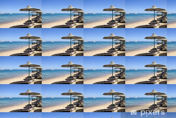 Tapeta na wymiar winylowa Plaża nad Morzem Czerwonym w Egipcie - Wakacje