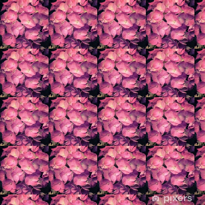 Papier peint vinyle sur mesure Une fleur rose lumière hortensia - Saisons