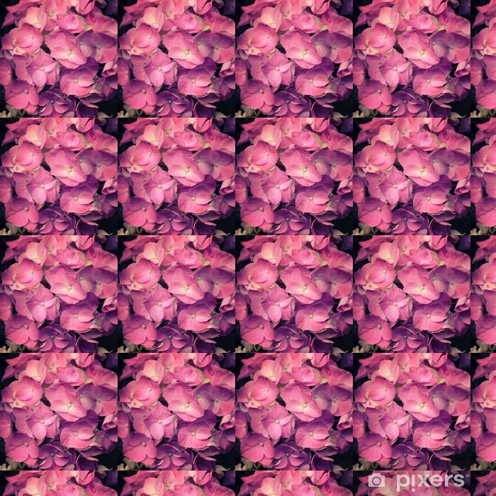 A light pink hortensia flower Vinyl custom-made wallpaper - Seasons