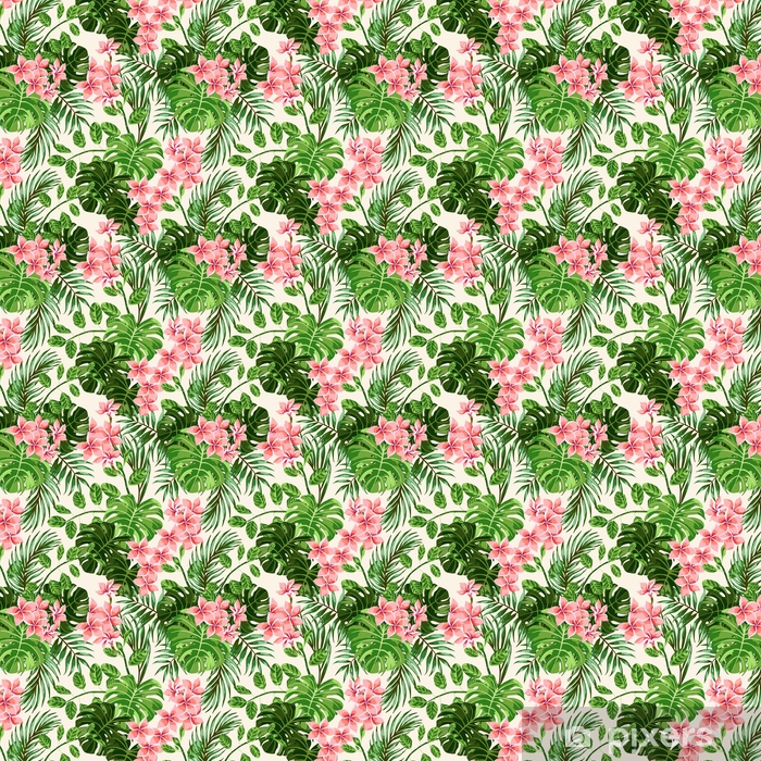 Vinyltapete Nahtloses exotisches Muster. - Grafische Elemente