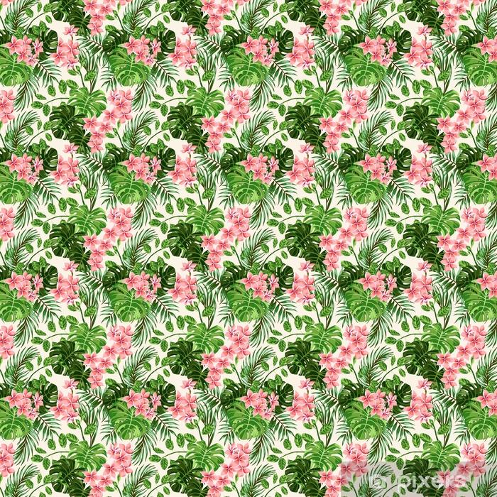 Zelfklevend behang, op maat gemaakt Naadloze exotische patroon. - Grafische Bronnen