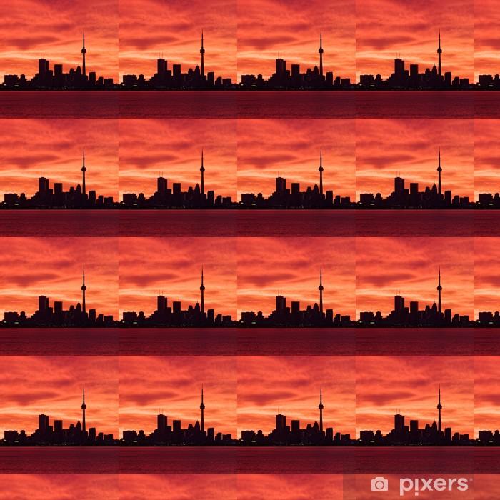 Papier peint vinyle sur mesure Downtown Toronto se réveiller à un ciel de feu - Amérique