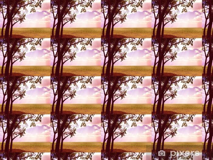 Vinyl behang, op maat gemaakt Mooie herfst landschap - Seizoenen
