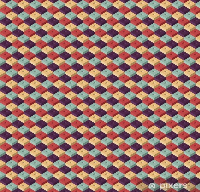 Vinyltapete nach Maß Würfel nahtlose Muster - Grafische Elemente