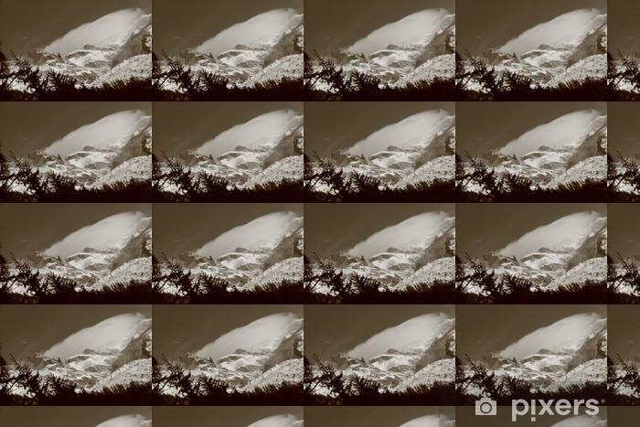 Papier peint vinyle sur mesure Mont Blanc - Montagne