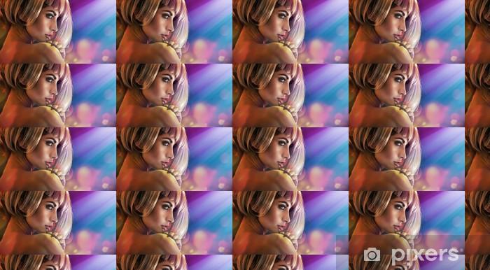 Tapeta na wymiar winylowa Closeup portret kuszącą kobieta z doskonałej cery - Moda