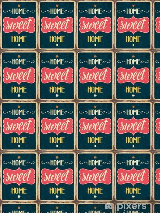 """Vinylová tapeta na míru Retro kovový nápis """"Home sweet home"""" - Grafika"""