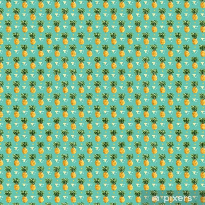 Tapeta na wymiar winylowa Geometryczne Ananas Tło - bez szwu w wektorze - Tła
