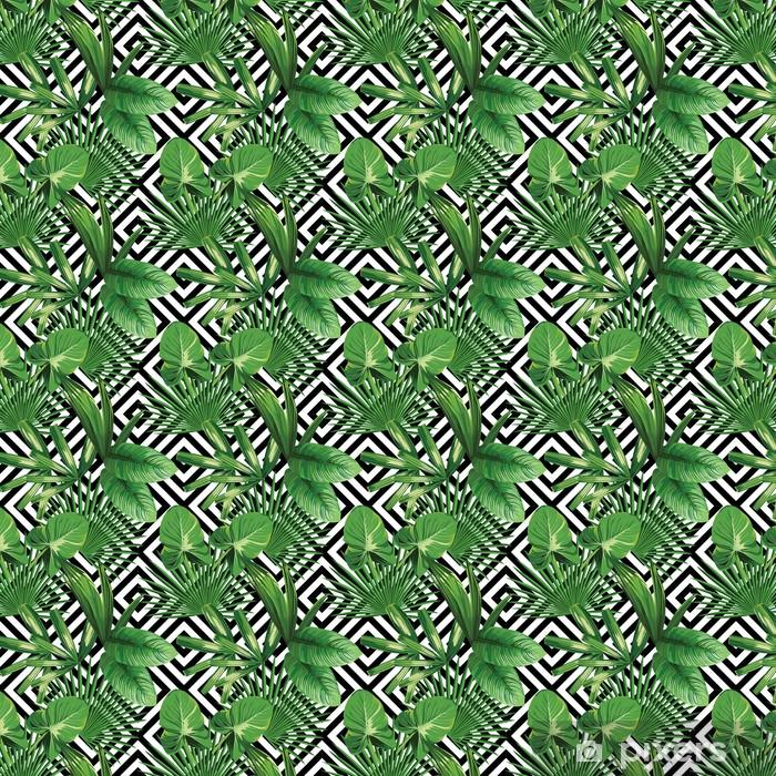 Tapeta na wymiar winylowa Tropikalnych liści palmowych, geometryczny wzór tła - Canvas Prints Sold