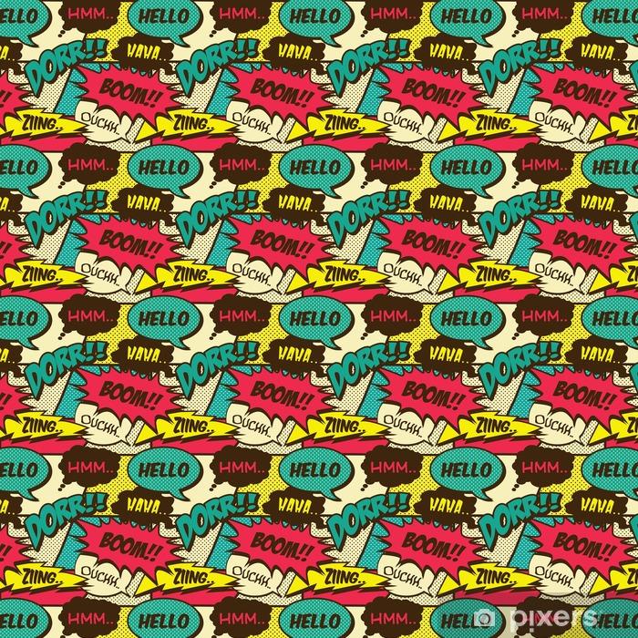 Tapeta na wymiar winylowa Retro bez szwu wzór komiks krzyk - Hobby i rozrywka