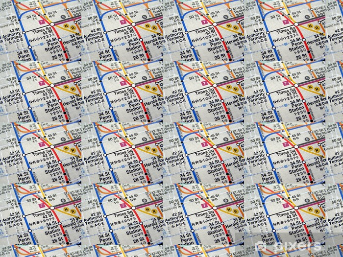 Tapete New york subway map - nach Maß