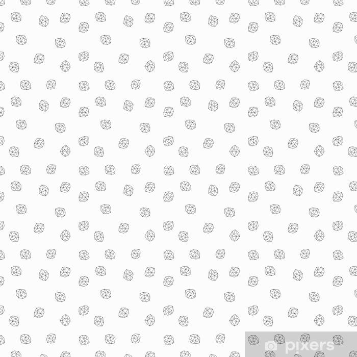 Vinyl behang, op maat gemaakt Abstracte Veelhoeken Naadloos Patroon - Grafische Bronnen
