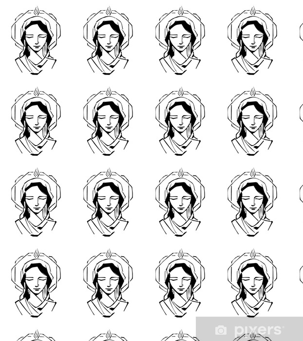 Mary at Pentecost Vinyl custom-made wallpaper - Culture and Religion
