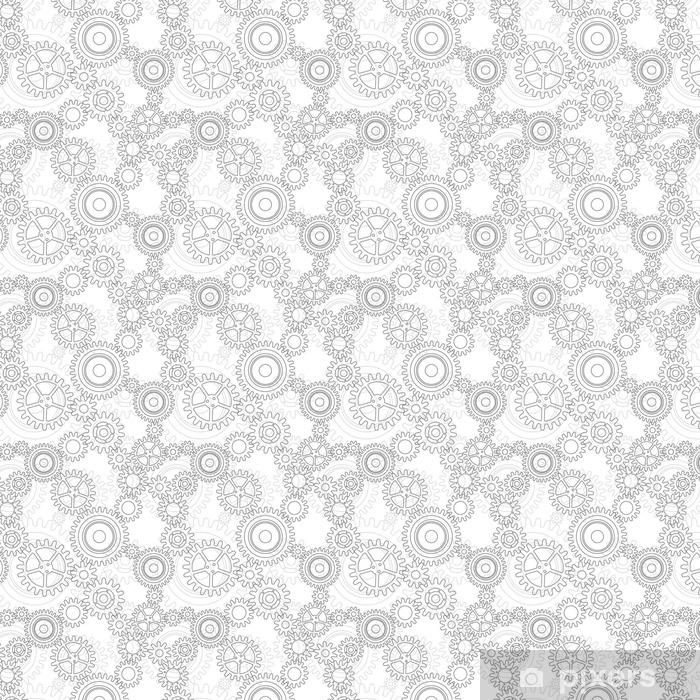 Seamless pattern of gear wheels Vinyl custom-made wallpaper - Industry