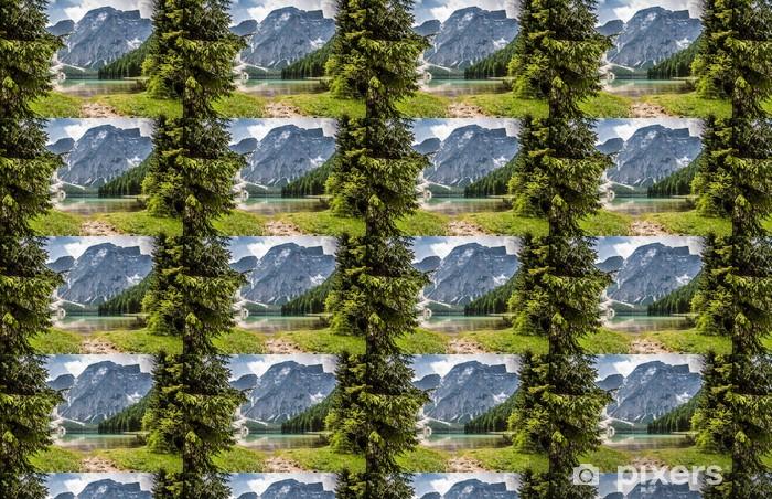 Vinylová tapeta na míru Panorama Lago di Braies - Evropa