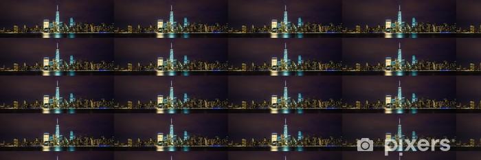 Vinylová tapeta na míru New York City Manhattan panorama panoramatický obraz přes Hudson Rive - Americká města