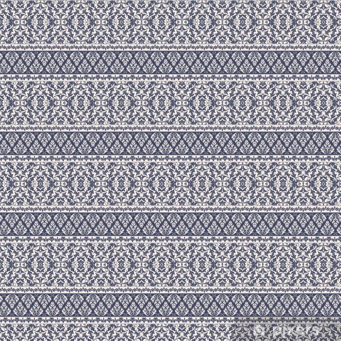 Vinyltapete nach Maß Damast-Muster - Grafische Elemente