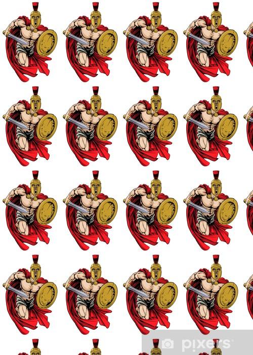 Måttanpassad vinyltapet Spartan krigare maskot - Lagsport