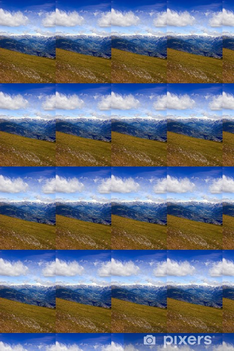 Tapeta na wymiar winylowa Veduta della Conca di Pila - Dolina Aosty - Góry