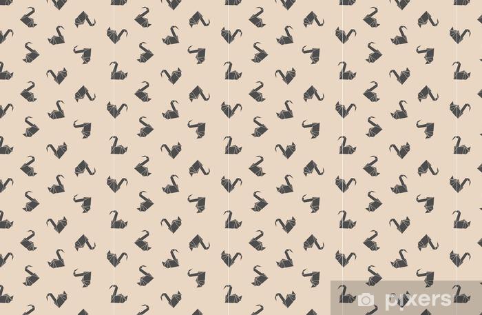 Tapete Nahtlose Muster Japanisches Papier Origami Kraniche Kann Für Die Webseite Hintergründe Oberflächenstrukturen Hintergrund Auf Visitenkarten