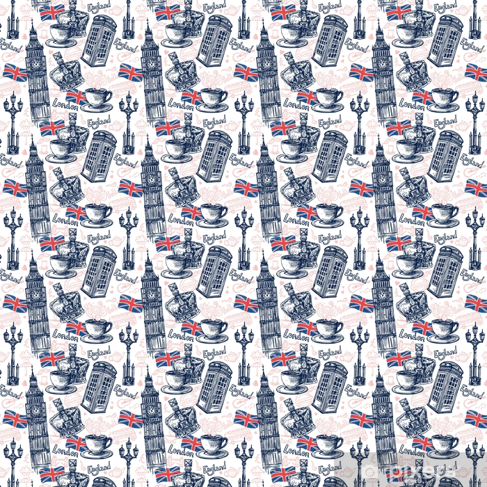 London Seamless Pattern Vinyl custom-made wallpaper - Buildings and Architecture