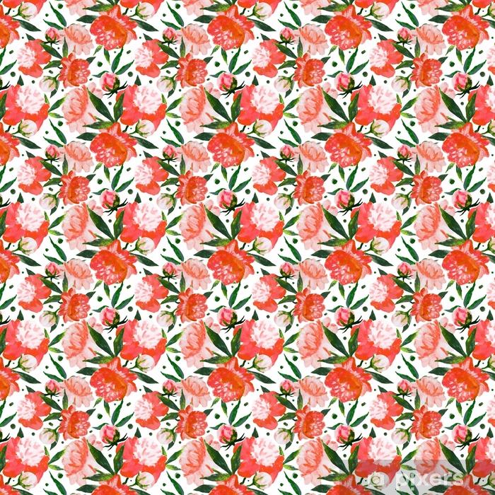 Vinyl behang, op maat gemaakt Aquarel bloemmotief - Bloemen en Planten