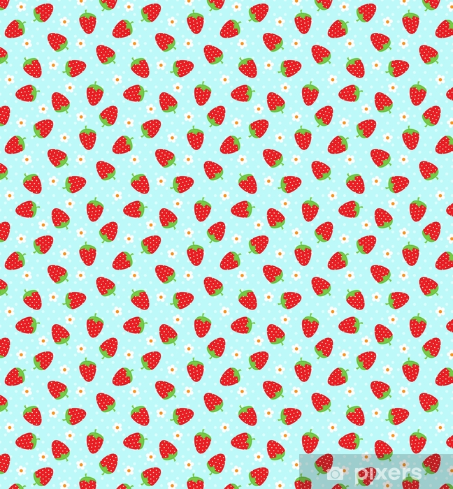 Tapeta na wymiar winylowa Truskawkowy wzór - Zasoby graficzne