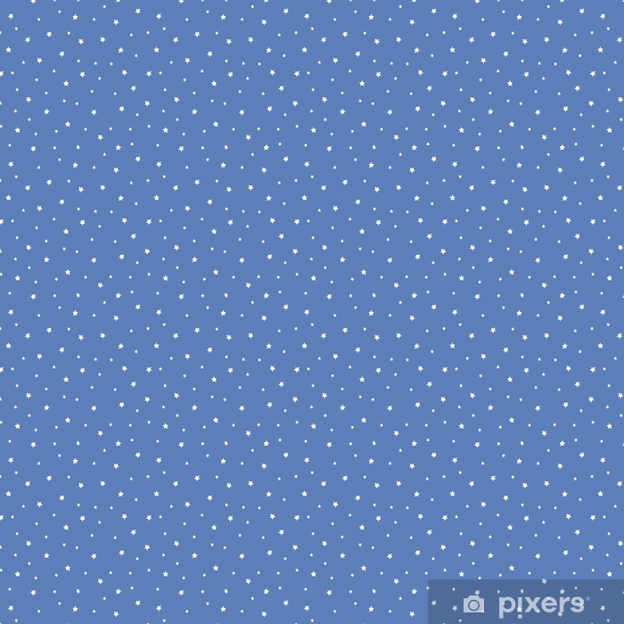 Seamless Pattern With Stars On Blue Background Night Sky Nature Illustration Cute Baby Shower Background Wallpaper Vinyl Custom Made