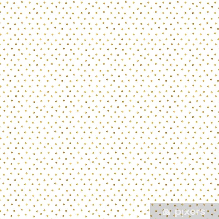Tapeta na wymiar winylowa Bez szwu polka dot złoty wzór. - Zasoby graficzne