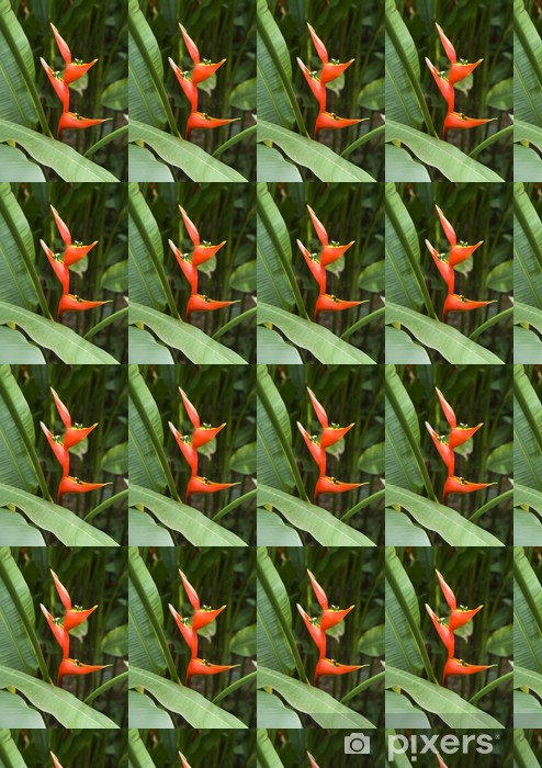 Papier peint vinyle sur mesure Heliconia caribaea - Fleurs