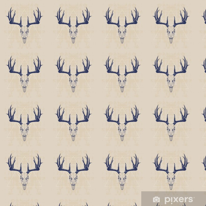 deer skull Vinyl custom-made wallpaper - Mammals