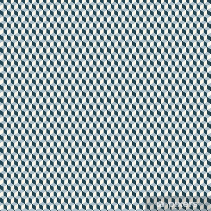 Tapete Vintage Wurfel 3d Muster Retro Vektor Muster Pixers