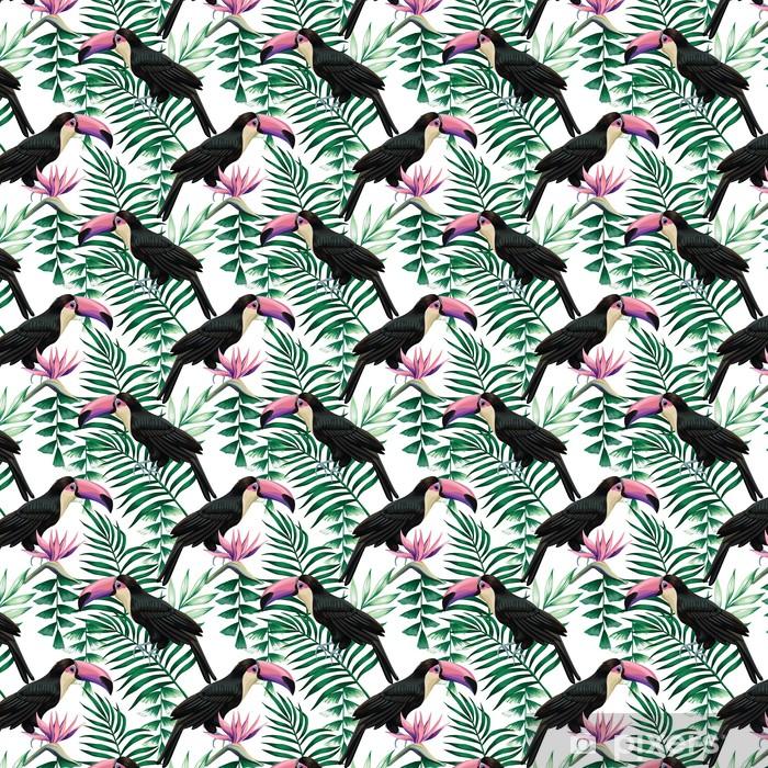 Toucan tropisk mønster Personlige selvklæbende tapet -