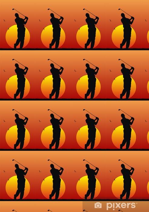 Papier peint vinyle sur mesure Résumé illustration vectorielle de golfeur - Sports individuels