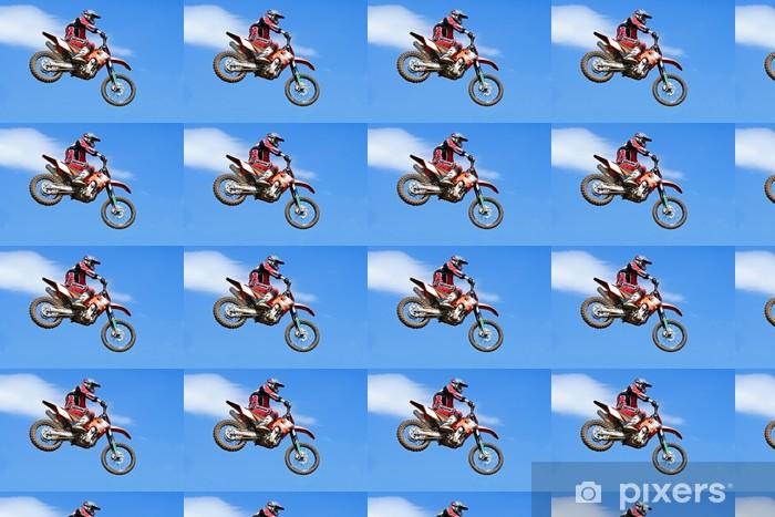 Papier peint vinyle sur mesure Motocross saut - Sports extrêmes