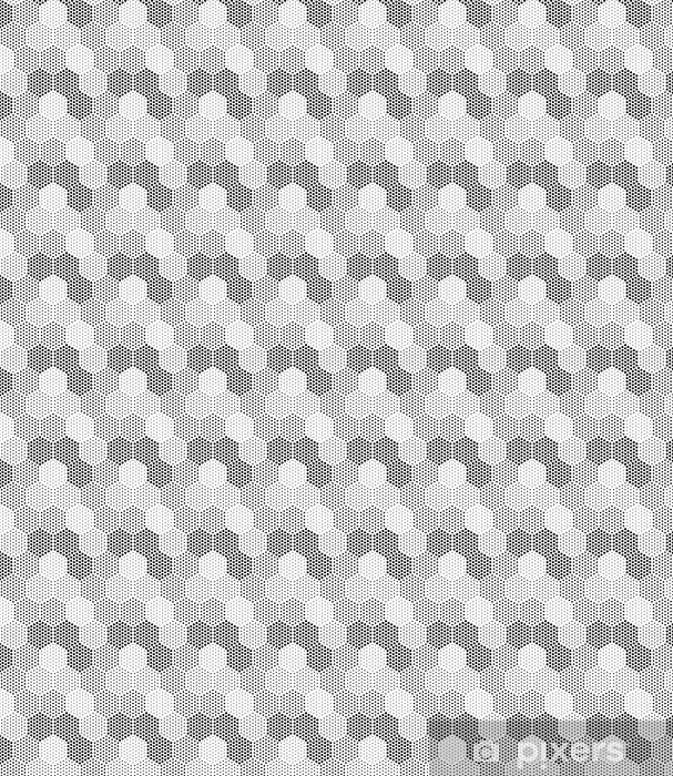 Vinyl behang, op maat gemaakt Hexagon Illusion Pattern - Grafische Bronnen