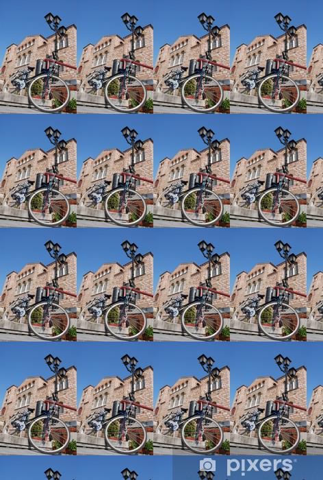 Papier peint vinyle sur mesure Vélos sur les escaliers en face de Achurch - Religion