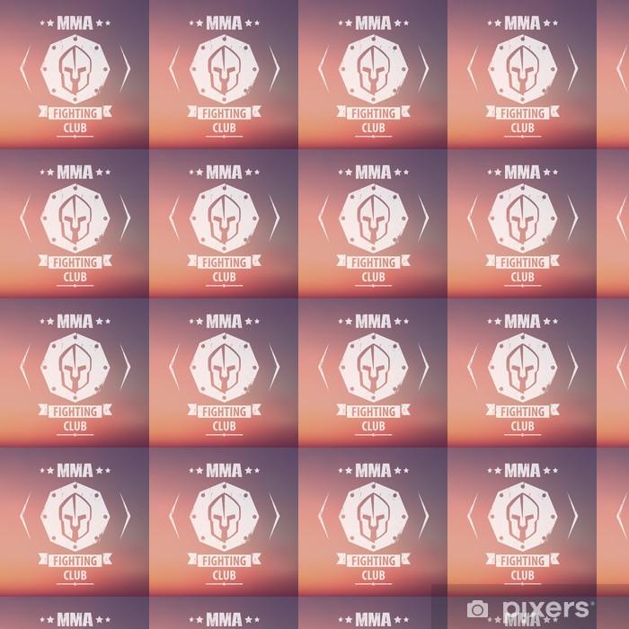 Vinyltapete nach Maß MMA Kampf Verein Grunge-Emblem, Logo, mit spartanisch Helm, Vektor-Illustration, eps10, leicht zu bearbeiten - Zeichen und Symbole