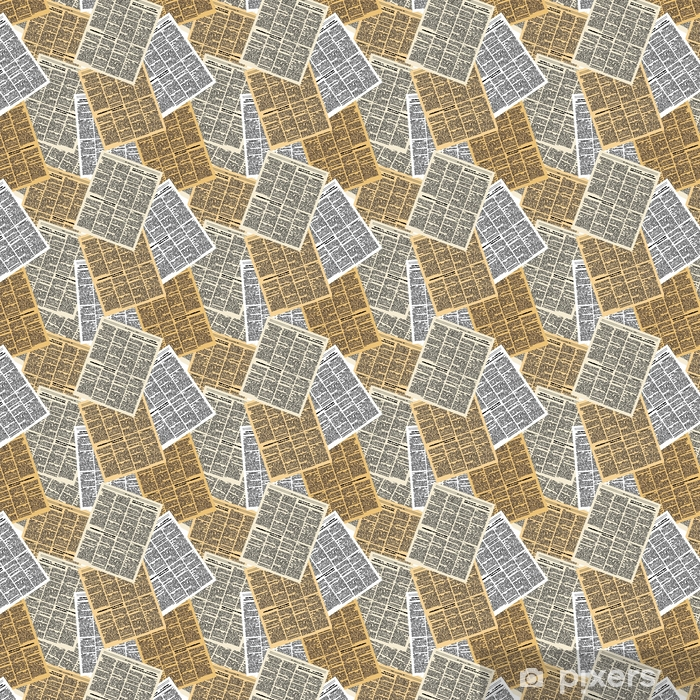 Newspaper seamless pattern. Vector background of pages of vintag Vinyl custom-made wallpaper - Hobbies and Leisure