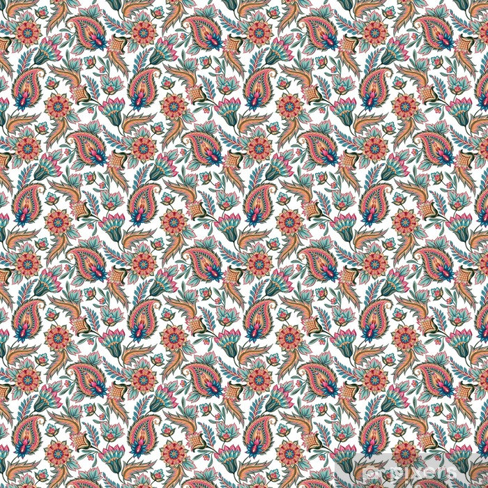 Seamless Paisley Pattern Vinyl custom-made wallpaper - Graphic Resources
