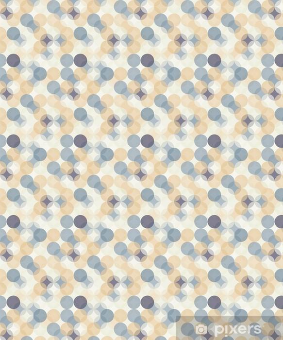 Vinyl behang, op maat gemaakt Vector moderne naadloze kleurrijke meetkunde patroon van cirkels, kleur abstract geometrische achtergrond, behang druk, retro textuur, hipster fashion design, __ - Grafische Bronnen