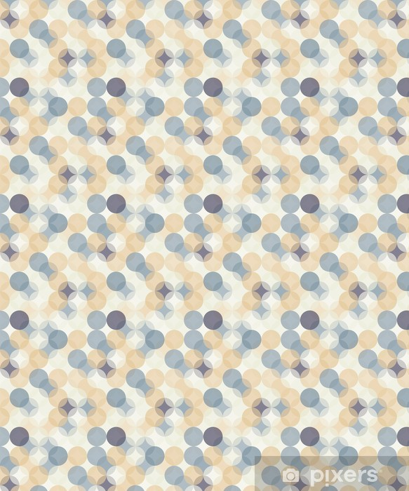 Vector modern seamless colorful geometry pattern circles , color abstract geometric background,wallpaper print, retro texture, hipster fashion design, Vinyl Custom-made Wallpaper - Graphic Resources