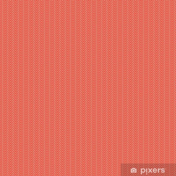 Vinyl behang, op maat gemaakt Rode chevronpatroon - Grafische Bronnen
