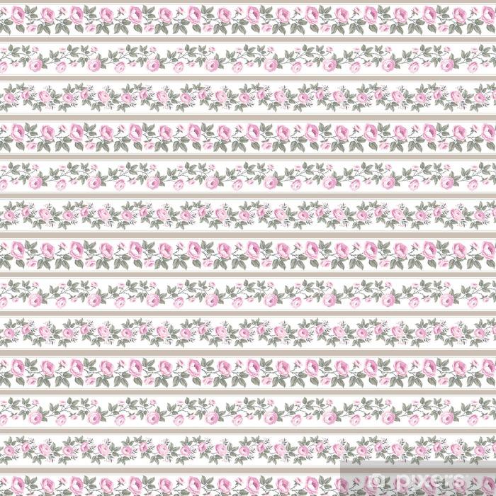 Papel pintado estándar a medida Conjunto de las fronteras de flores sin fisuras con las rosas - Plantas y flores