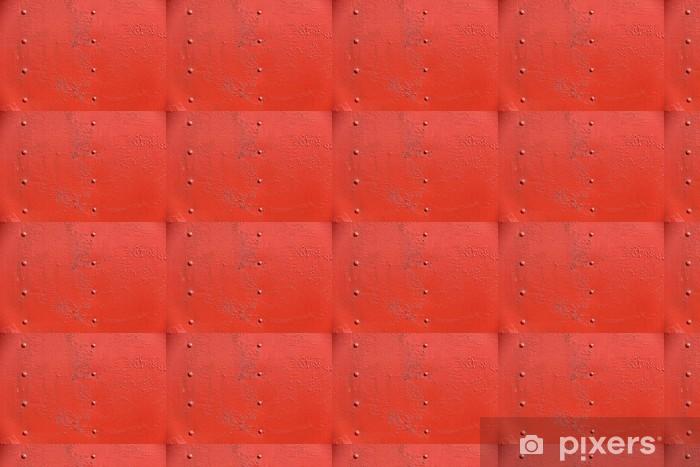 Papier peint vinyle sur mesure Mur de fer rouillé recouvert de peinture - Textures