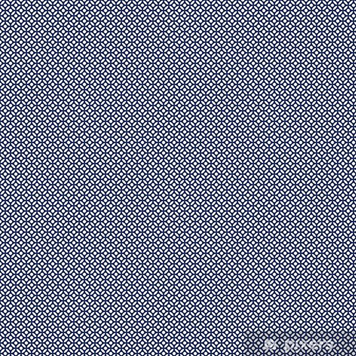 Zelfklevend behang, op maat gemaakt Naadloze porselein indigo blauw en wit Arabisch ronde patroon vector - Grafische Bronnen