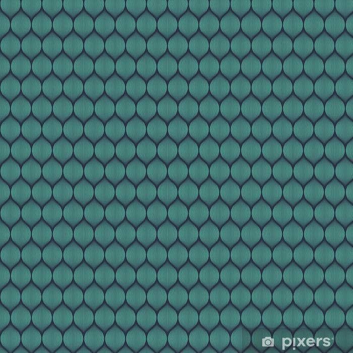 Vinyl behang, op maat gemaakt Naadloze neon blauwe optische illusie geweven patroon vector -