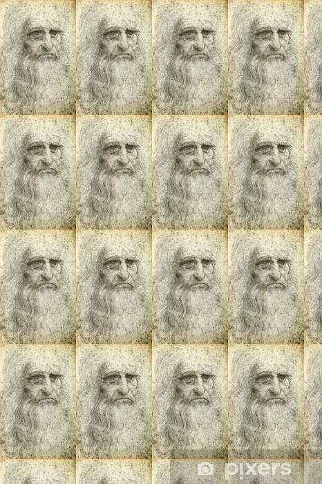 Leonardo Da Vinci Self Portrait 1512 Wallpaper Vinyl Custom Made