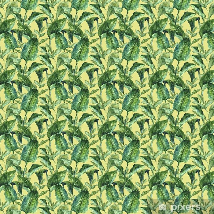 Tapeta na wymiar winylowa Akwarela bezszwowe tło z tropikalny liści - Rośliny i kwiaty