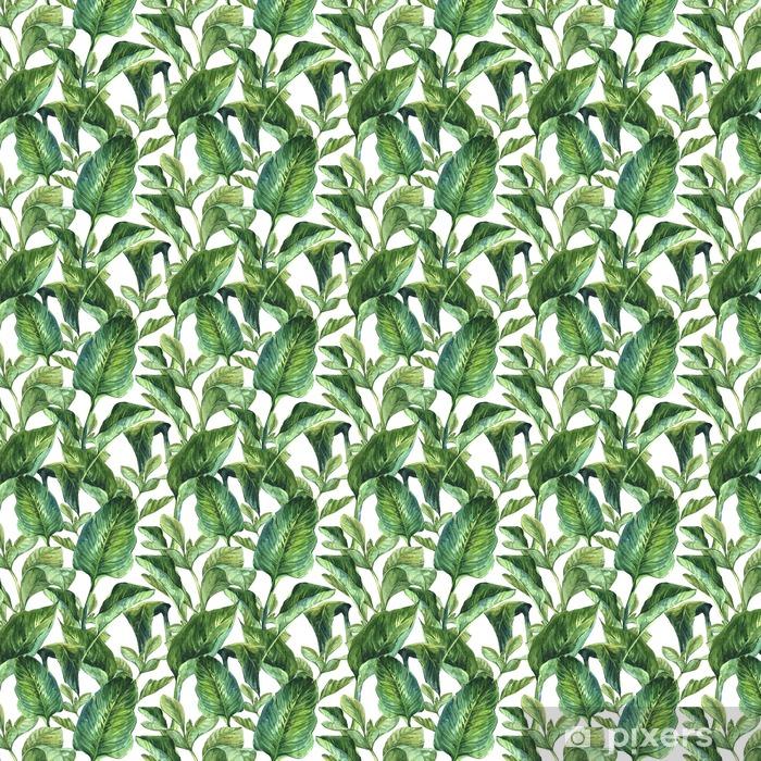 Tapeta na wymiar winylowa Liście tropikalne w akwareli - Rośliny i kwiaty
